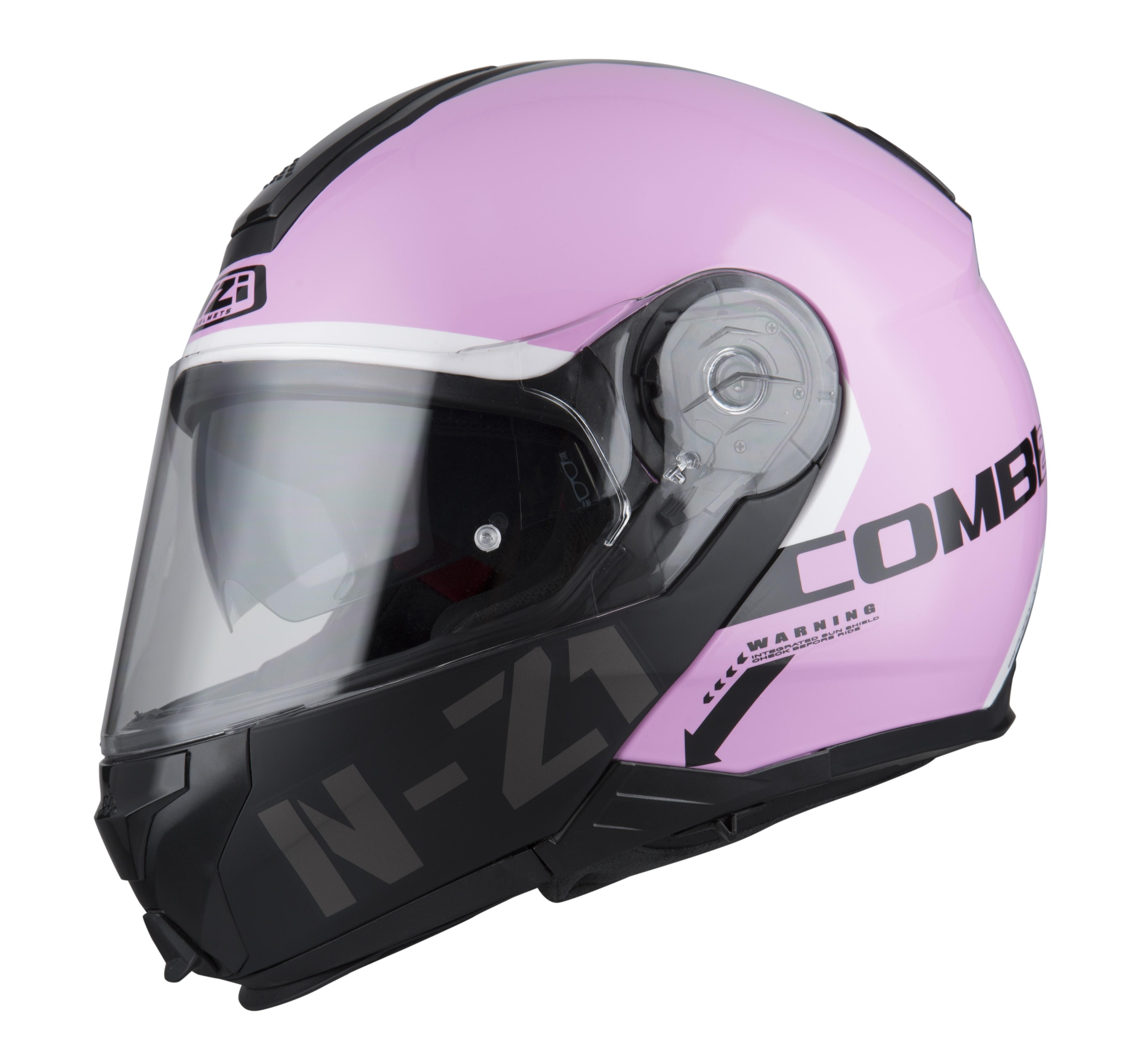 casco-nzi-combi2-duo-graphics-flydeck-rosa-brillante-shell-mate-chin-bar